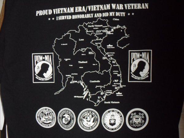 back of 40th Anniversary of Vietnam War Tee Shirt