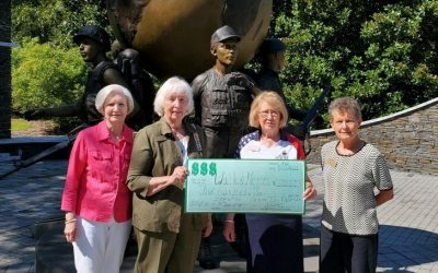 Local NSDAR Gives Generous Donation to Walk of Heroes